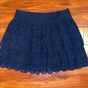 Banana republic tiered lace skirt